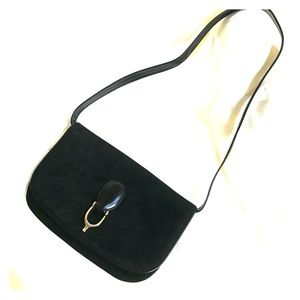 Gucci Vintage Suede Stirrup Shoulder Bag/Clutch